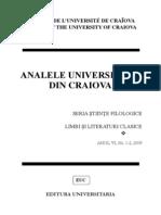 Analele Univ Cv-limbi Si Literaturi Clasice Nr. 1-2.2009