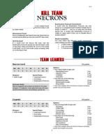 Kill Team List - Necrons v1.3