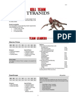 Kill Team List - Tyranids v1.3