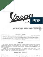 Vespa Piaggio 150 Operation & maintenance