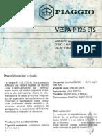 Vespa Piaggio P125 ETS Operation & maintenance