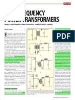 High Frequency Power Transformers- Design a High-frequency Power Transformer Based on Flyback Topology