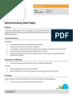 lesson deconstructing web pages