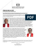 Justice Philip Waki Elected President of the Residual Special Court for Sierra Leone