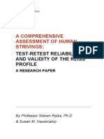 A Comprehensive Assessment of Human Strivings