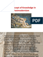 The Concept of Knowledge in Postmodernism