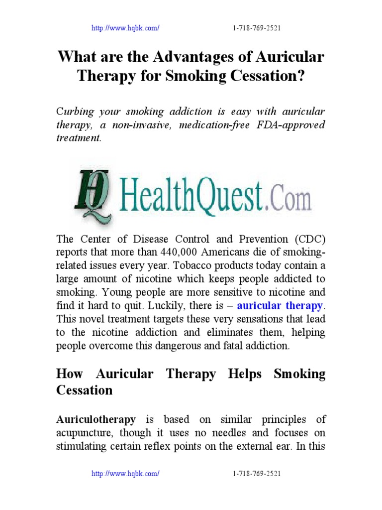 Auricular Therapy Smoking Cessation