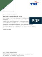 Rinza Telekom RINZA Certificate
