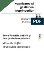 T.3 Functiile Intreprinderii