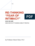 """Re-Thinking """"Fear of Intimacy"""""""