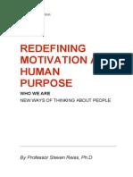 Redefining Motivation as Human Purpose
