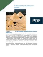 EVOLUCIÓN BÁSICA DE LA ARQUITECTURA EGIPCIA