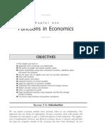 Functions in Economics