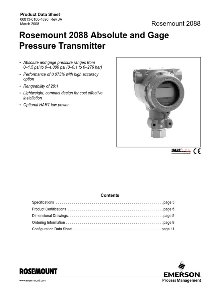2088_datasheet | Flow Measurement | Power Supply