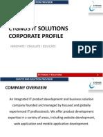 Cygnus It Solutions- Corporate Profile