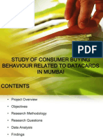 Consumer Buying Behaviour Related to DATACARDS in Mumbai