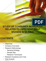 Study of Consumer Behaviour Related to Different Soap