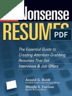No-Nonsense Resumes - Creating Attention Grabbing Resumes
