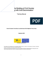 Capacity building for civil society dealing with anti-discrimination