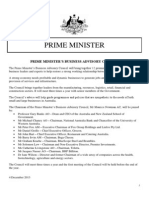 Prime Minister's Business Advisory Council