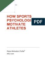 How Sports Psychologists Motivate Athletes