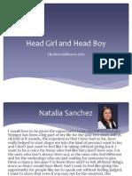 Head Girl and Head Boy 2013 speech