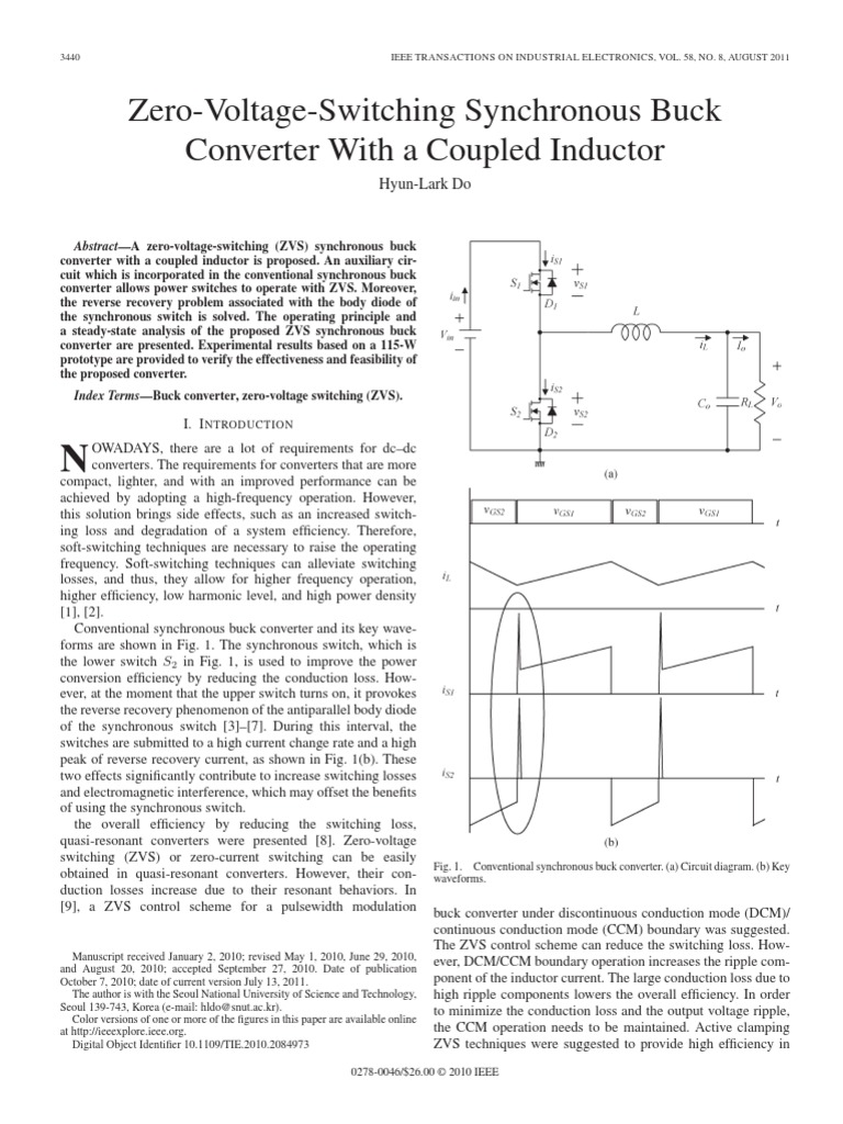 Zvs Inductor Inductance Quasi Resonant Converter Boost Free Final Year
