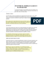 COMPARACIÓN ENTRE EL MODELO CLÁSICO Y EL DE KEYNES