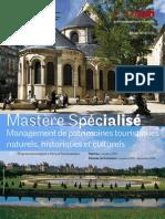 Mastère Management patrimoines touristiques plaquette 2013