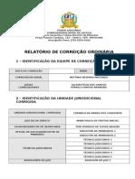 Relatório de Correição com Formulários 30 01 2012