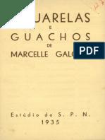 Aguarelas e guachos de Marcelle Galopin