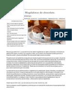 Cómo preparar Magdalenas de chocolate