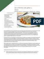 Lomos de Bacalao Al Horno Con Gulas Y Crema de Mejillones