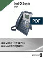 ENT PHONES IPTouch-4028-4029Digital-OXEnterprise Manual 0907 US