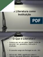 Literatura Como Instit