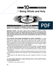 Integrity - Being Whole & Holy
