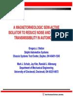 Semi-Active Magnetorheologic, Greg Stelzer