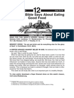 What the Bible Says About Eating Good Food