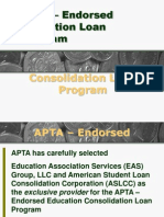 APTA – Endorsed Consolidation Loan Program