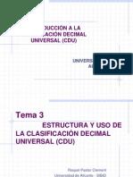 CDU Estructura y Uso