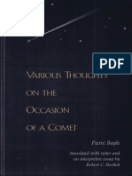 Pierre Bayle, Robert C. Bartlett-Various Thoughts on the Occasion of a Comet-