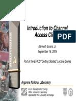 EPICSTraining.IntroductionToChannelAccessClients