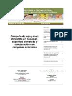 Campaña de soja y maíz 20122013 en Tucumán superficie sembrada y comparación con campañas anteriores.pdf
