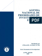 Agenda Nacional de Prioridades de Investigación en Salud