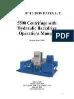 5500 Centrifuge Hydraulic Backdrive Operations Manual