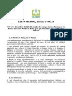 COLDIRETTI ABRUZZO Documento Mobilitazione 28112013