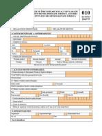 Formular 010 Din 2012