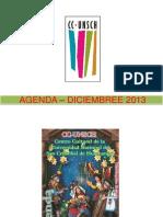 - AGENDA – DICIEMBRE  2013