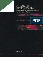 Atlas de Petrografía - Minerales formadores de rocas en lámina delgada - by W. S. MacKenzie, C. Guilford web