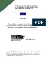 Cortante Basal Sap2000v8-V9